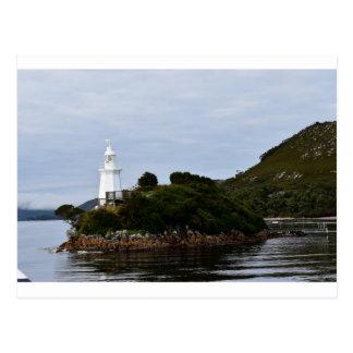 LIGHTHOUSE STRAHAN TASMANIA AUSTRALIA POSTCARD