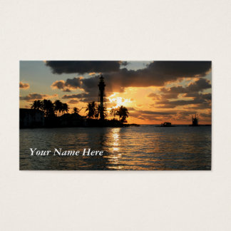 Lighthouse Sunrise Business Card