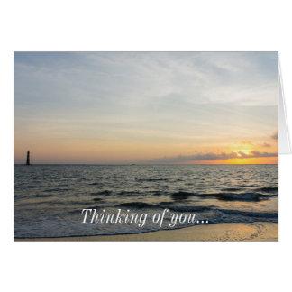 Lighthouse Sunrise Card