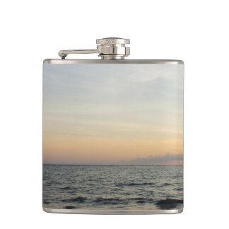 Lighthouse Sunrise Hip Flask