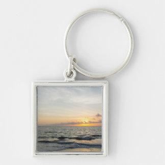 Lighthouse Sunrise Key Ring