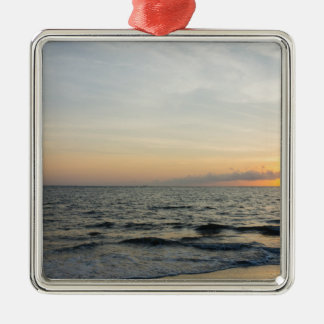 Lighthouse Sunrise Metal Ornament