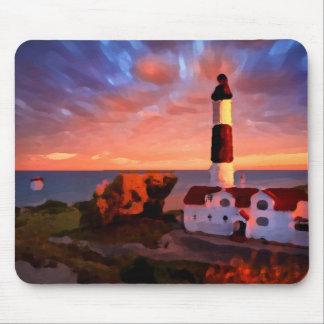 lighthouse sunrise mousepad