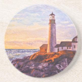 Lighthouse Sunrise Sandstone Coaster