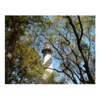LIGHTHOUSE THROUGH THE TREES POSTCARD