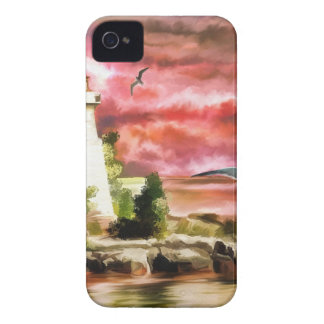 lighthouse water painting Case-Mate iPhone 4 cases