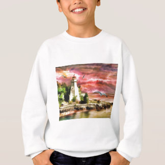 lighthouse water painting sweatshirt