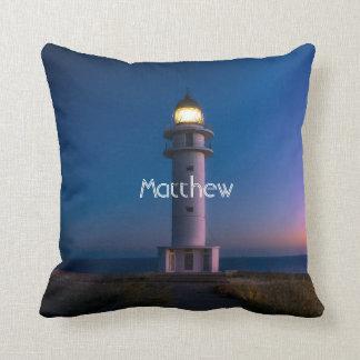 Lighthouse with monogram cushion