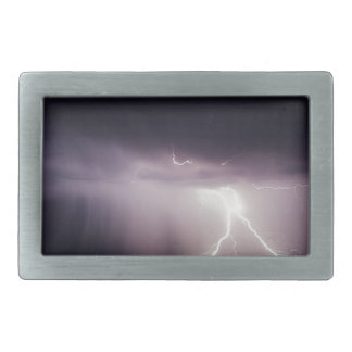 Lighting Bolt (Storm) Rectangular Belt Buckles