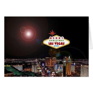 Lighting Effect Las Vegas Christmas Card