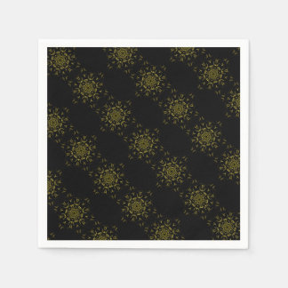 Lighting mandala paper napkin