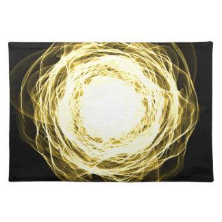 Lighting mandala placemat