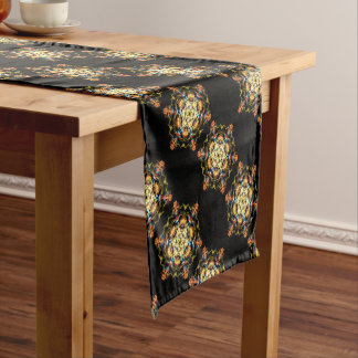 Lighting mandala short table runner