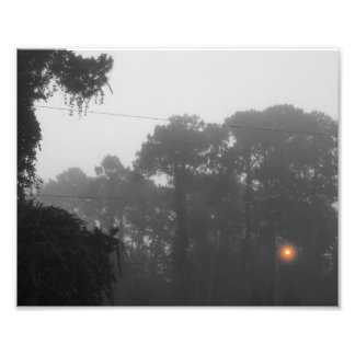 Lighting the Gloom selective color photo