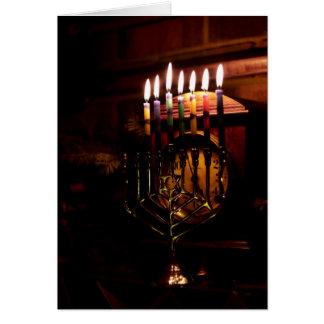 Lighting the Menorah Card