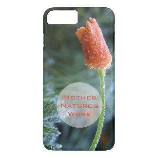 Lightly Frosted California Poppy Photograph iPhone 7 Plus Case