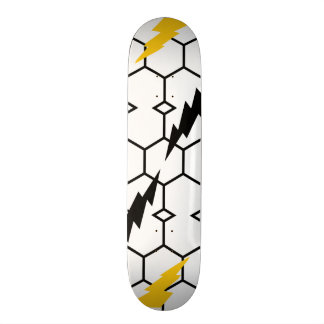 "Lightning and Hexagon 7¾"" Skateboard"