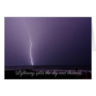 Lightning at the beach card