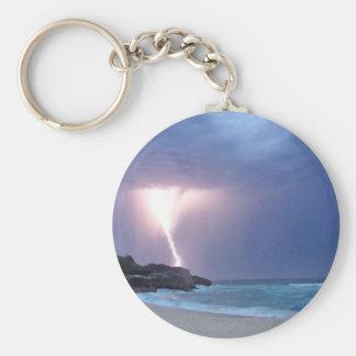 Lightning Beach Key Ring