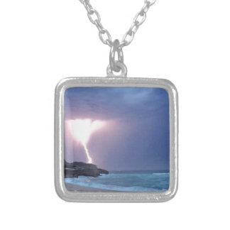 Lightning Beach Silver Plated Necklace