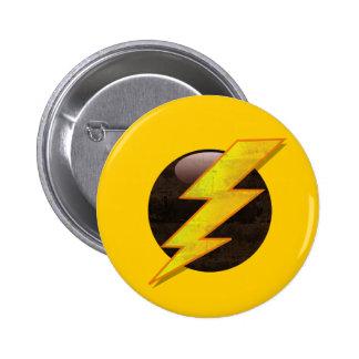 Lightning Bolt 6 Cm Round Badge