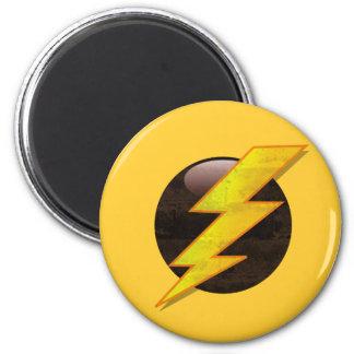 Lightning Bolt 6 Cm Round Magnet