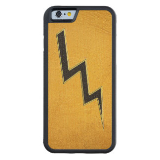 Lightning bolt carved maple iPhone 6 bumper case
