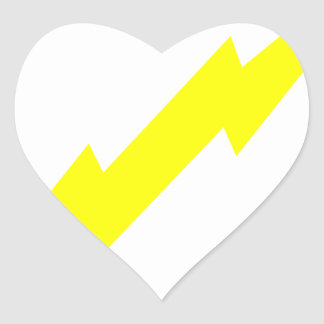 Lightning Bolt Heart Sticker