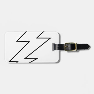 lightning bolt luggage tag