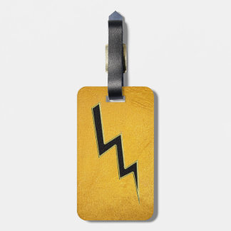 Lightning bolt luggage tag