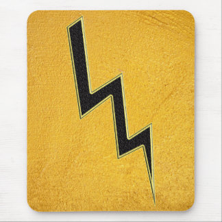 Lightning bolt mouse pad