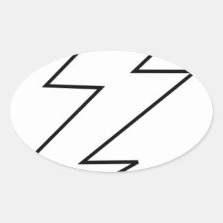 lightning bolt oval sticker
