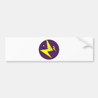 lightning bolt selfie bumper sticker