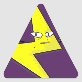 lightning bolt selfie triangle sticker