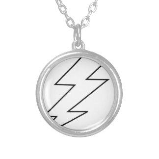 lightning bolt silver plated necklace