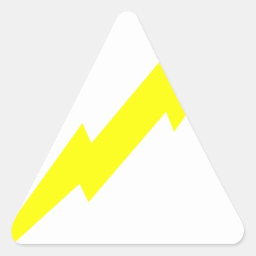 Lightning Bolt Triangle Sticker