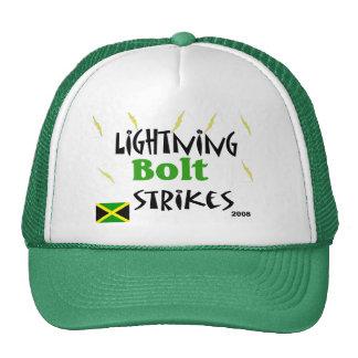 lightning bolt strikes hats