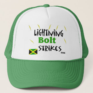 lightning bolt strikes trucker hat