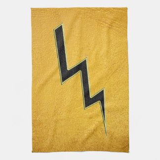 Lightning bolt tea towel