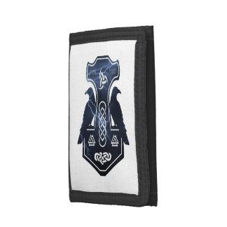 Lightning Bolt Thor's Hammer Tri-fold Wallets