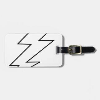 lightning bolta luggage tag