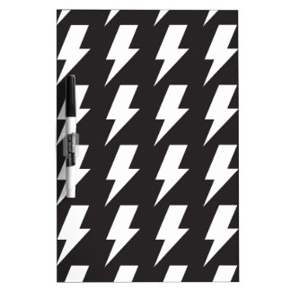 Lightning bolts bw Dry-Erase board