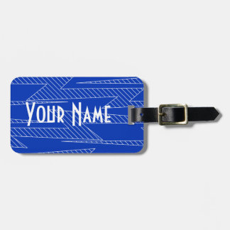 Lightning bolts luggage tag