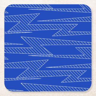 Lightning bolts square paper coaster