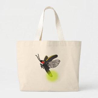 lightning bug flight 2 lit large tote bag