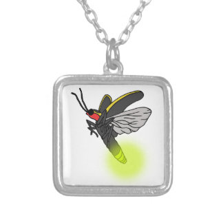 lightning bug flight 2 lit silver plated necklace