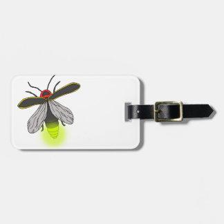 lightning bug flight lit luggage tag