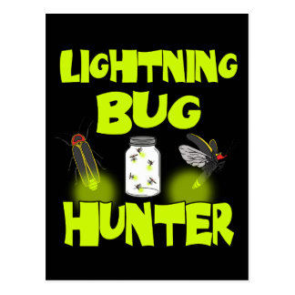 lightning bug hunter postcard