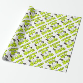 lightning bug hunter wrapping paper