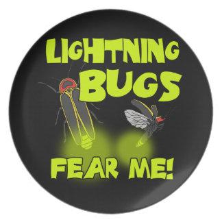 Lightning Bugs fear me Plate